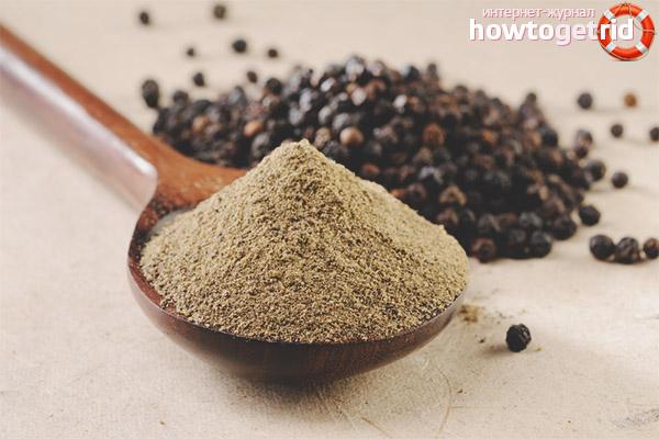 Способы использования черного молотого перца