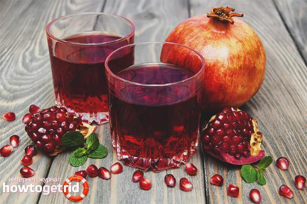 В чем польза гранатового сока для кормящей женщины