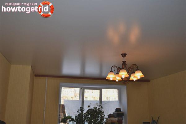 Где можно использовать сатиновый потолок