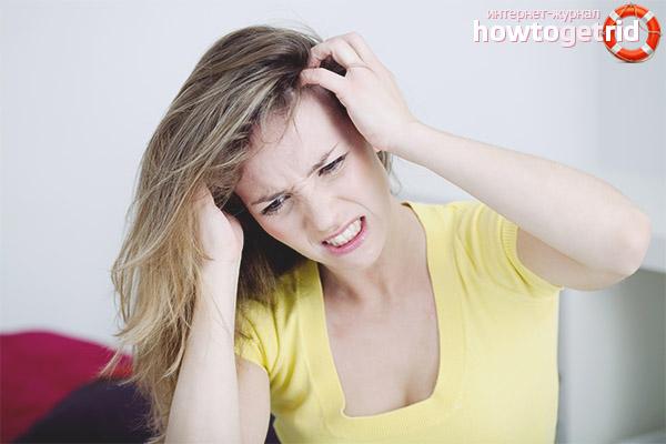 Как избавиться от перхоти и зуда головы