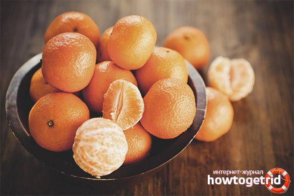 Норма потребления мандарин при диабете