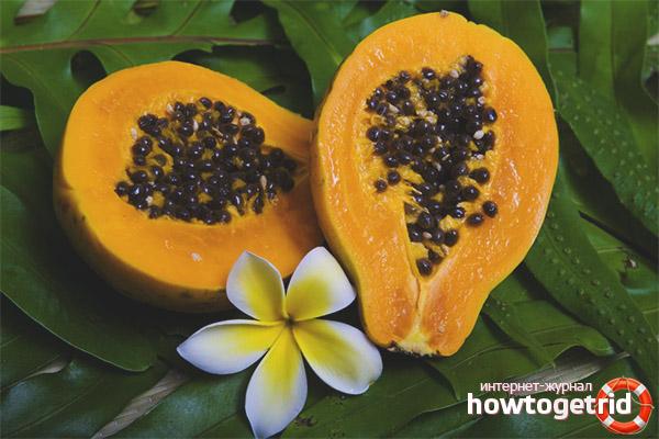 Полезные свойства папайи