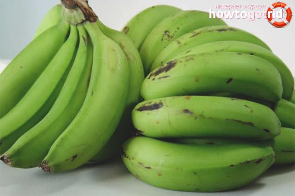 Хранение зелёных бананов