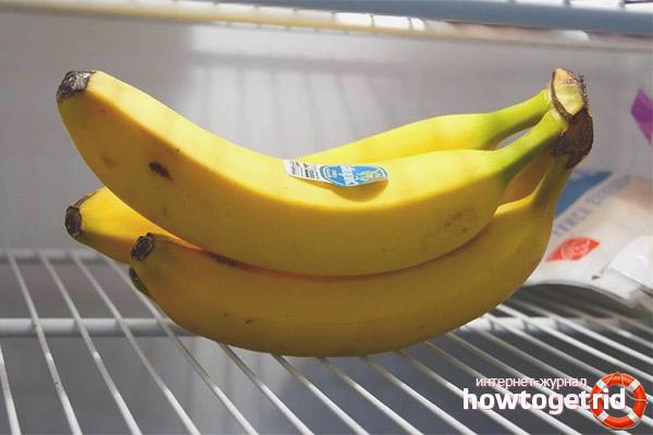 Можно ли хранить бананы в холодильнике