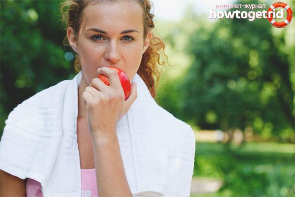 Пищевая ценность яблок для спортсменов