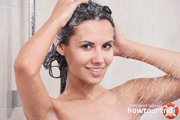 Оптимальный температурный режим для мытья волос