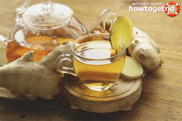 Чай для похудения из имбиря