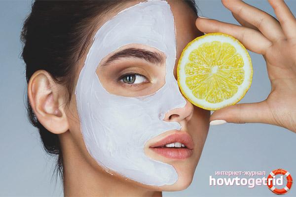 Действенные маски с лимоном для лица