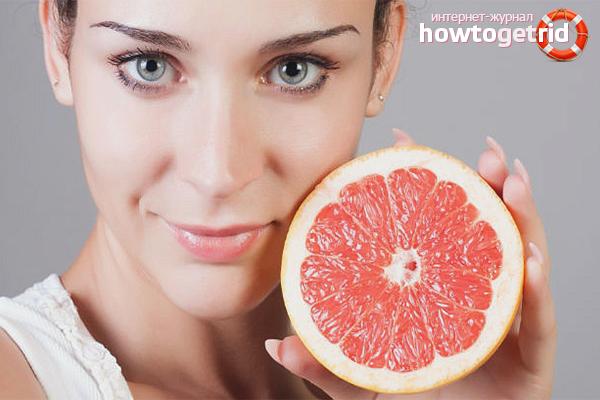 Использование грейпфрута для красоты