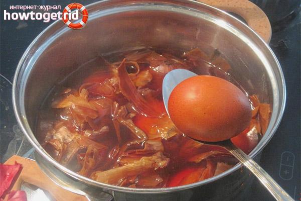 Как покрасить яйца на пасху в луковой шелухе
