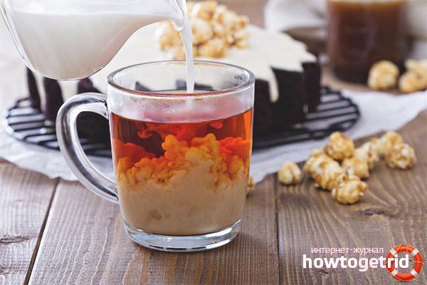 Как приготовить чай с молоком