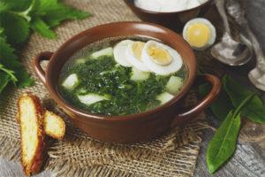 Как сварить суп из щавеля с яйцом