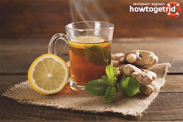 Как заваривать чай с имбирем и лимоном