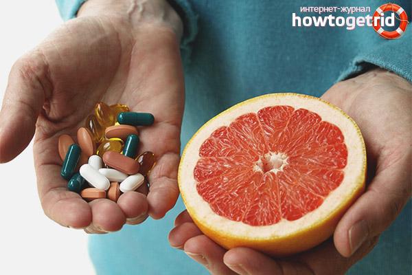 Какие препараты несовместимы с грейпфрутом