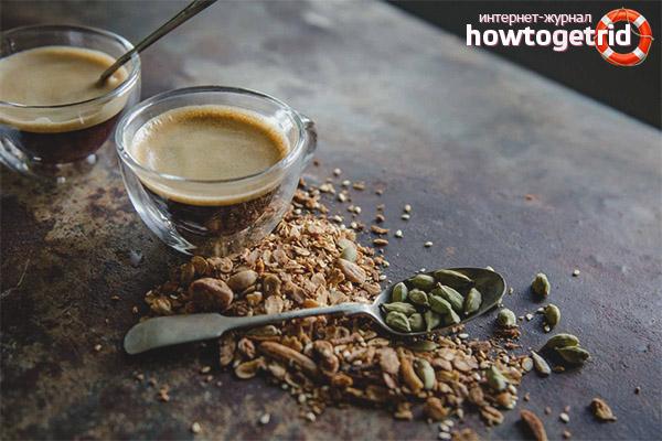 Кофе с кардамоном и мускатным орехом