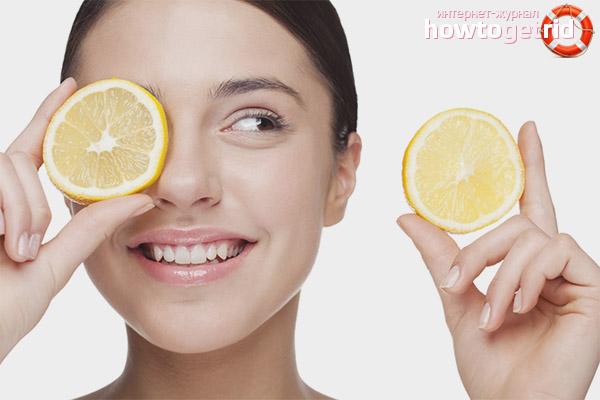 Лимонный пилинг лица