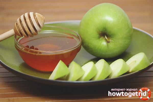 Маска для лица из яблок и меда
