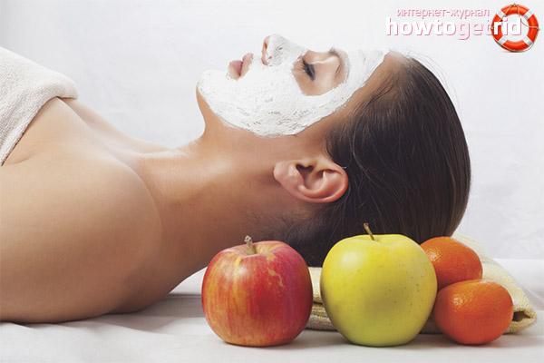 Маски из яблока для лица