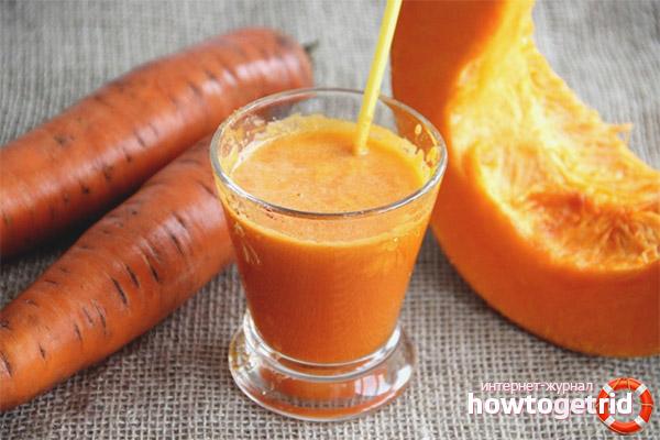 Морковный сок с тыквой на зиму