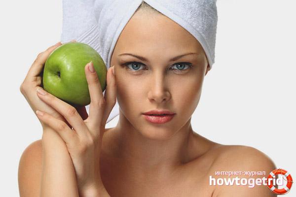 Особенности применения яблочных масок для лица
