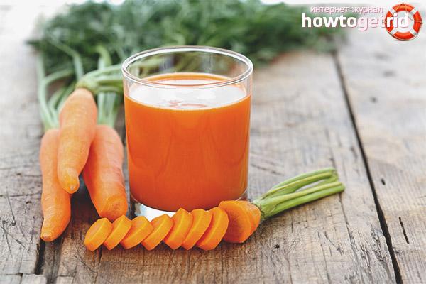 Польза морковного сока в диетическом питании
