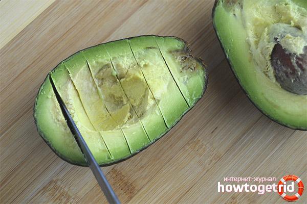 Правильная нарезка авокадо
