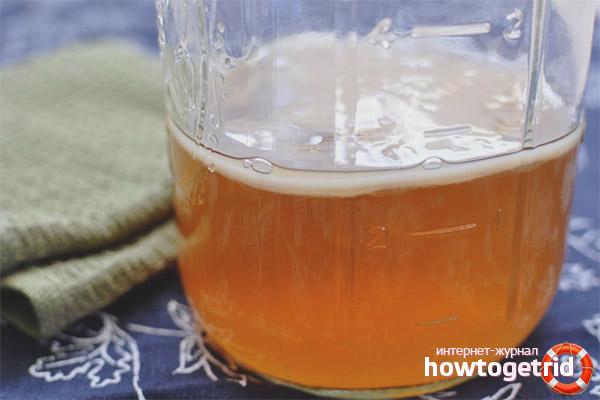 Приготовление отвара для волос из чайного гриба