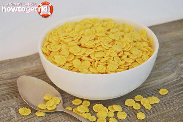 Приём и дозировка кукурузных хлопьев