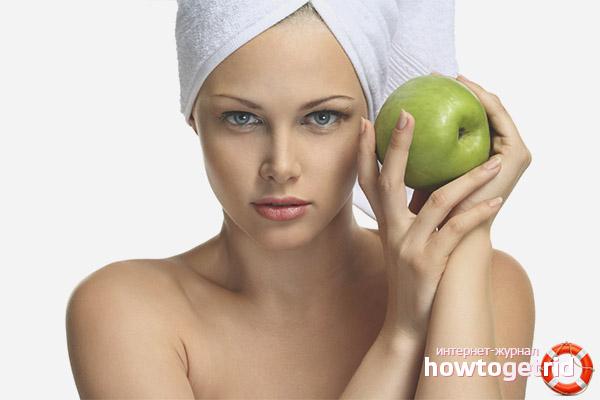 Простые рецепты масок из яблок для волос