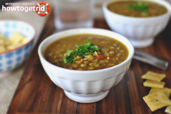 Рецепты супов из чечевицы