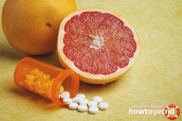 С какими лекарствами нельзя есть грейпфрут