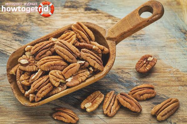 Вкусовые качества ореха пекан