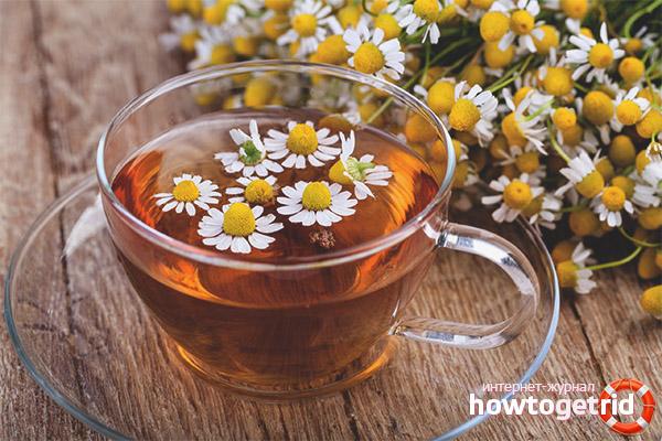 Воздействие ромашкового чая при заболеваниях