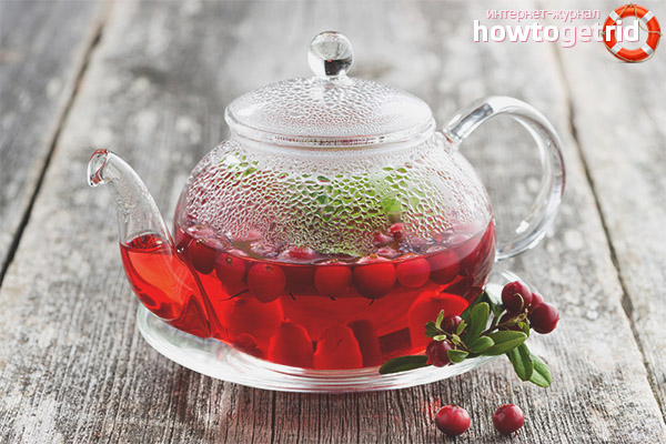Чай из брусники