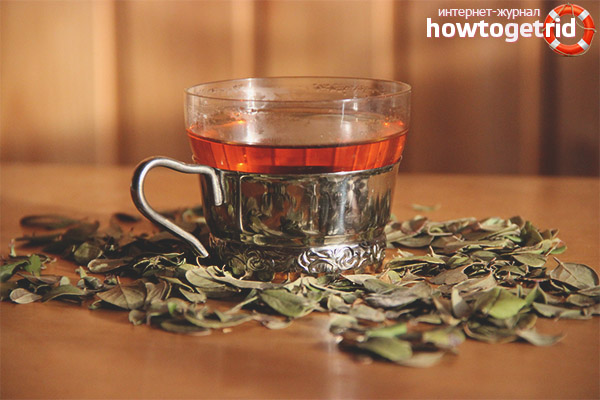 Чай из листьев брусники