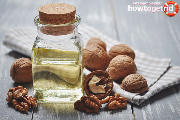 Использование масла грецкого ореха