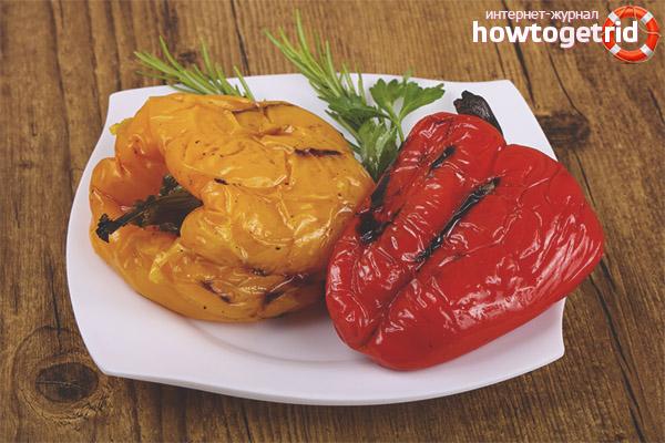Как пожарить болгарский перец