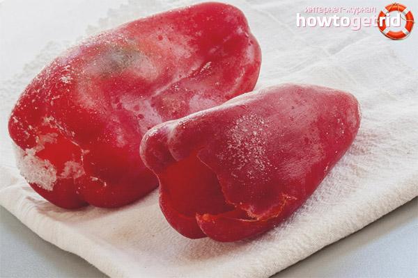 Как заморозить болгарский перец на зиму