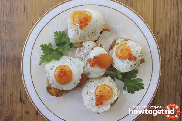 Как жарить перепелиные яйца