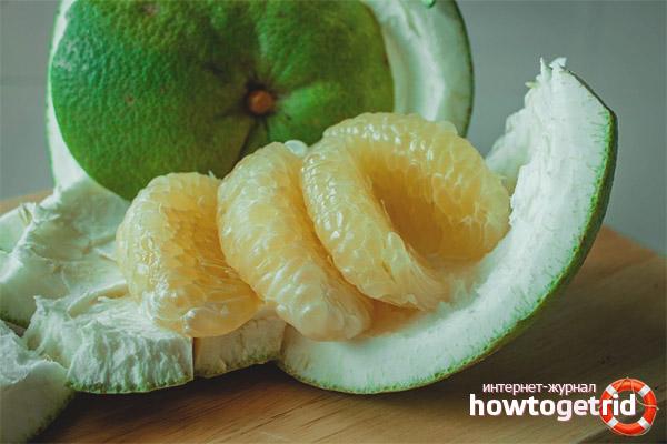 Потребление фрукта помело для похудения