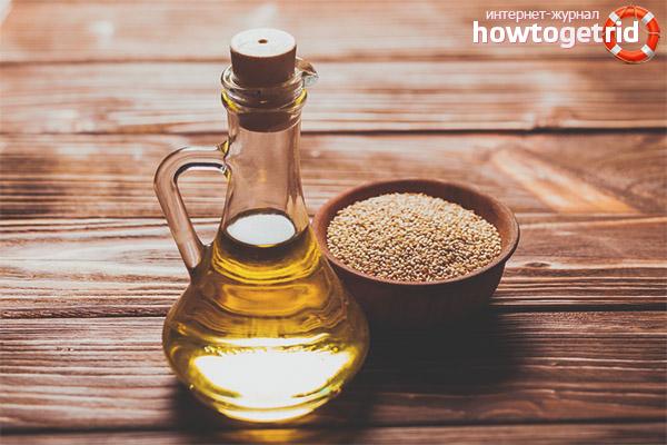 Правила использования кунжутного масла в период диеты