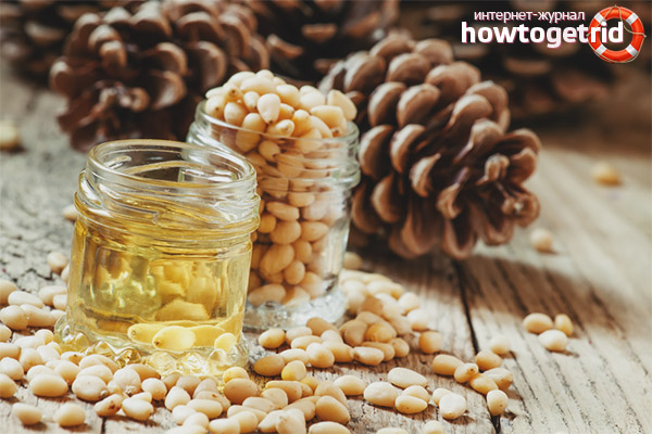 Приём кедрового масла при болезнях