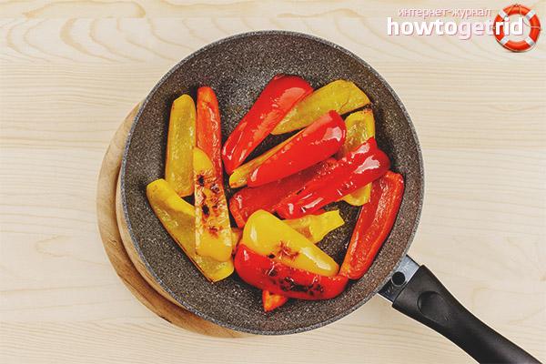 Рецепт вкусной зажарки болгарского перца