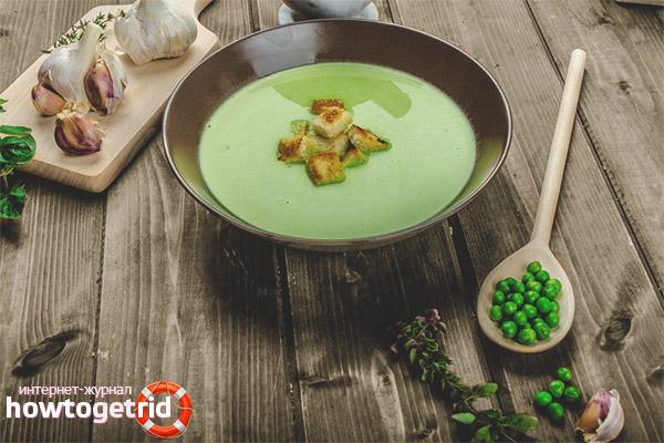 Суп пюре из гороха