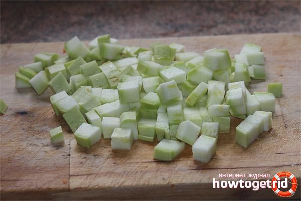 Заморозка кабачков кубиками