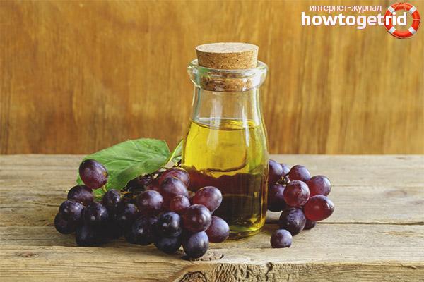 Алгоритм использования масла виноградных косточек