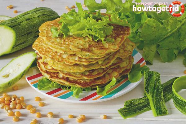 Рецепты блинчиков из кабачков