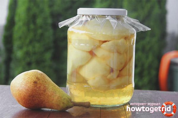 Рецепты компотов из груш на зиму