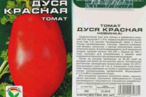 Томат Дуся красная