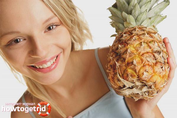 Диеты на основе ананаса